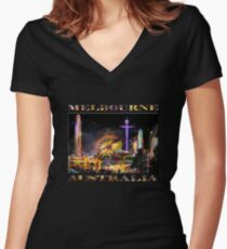 Fairground Attraction (diptych - left side) Women's Fitted V-Neck T-Shirt