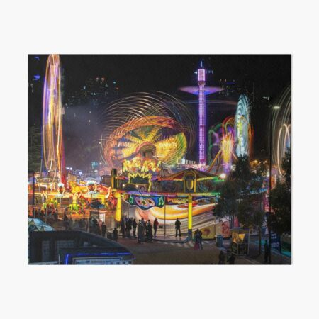 Fairground Attraction (diptych - left side) Art Board Print
