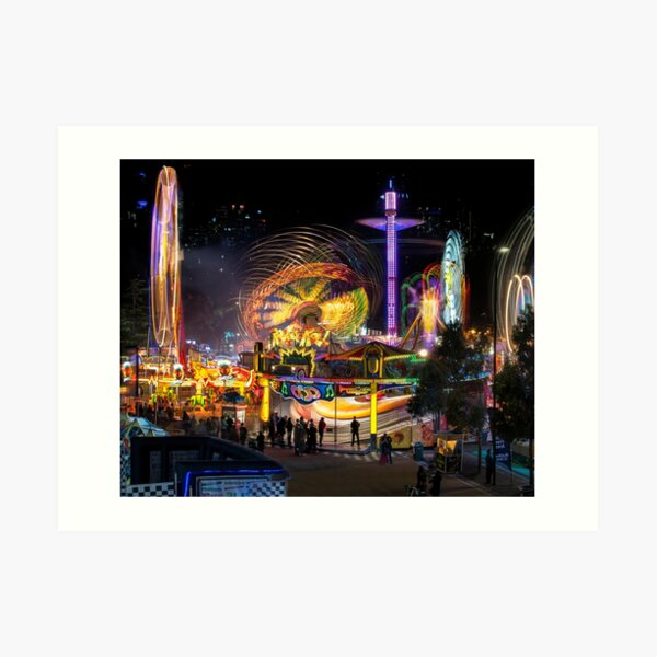 Fairground Attraction (diptych - left side) Art Print