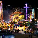 Fairground Attraction (diptych - left side) by Ray Warren
