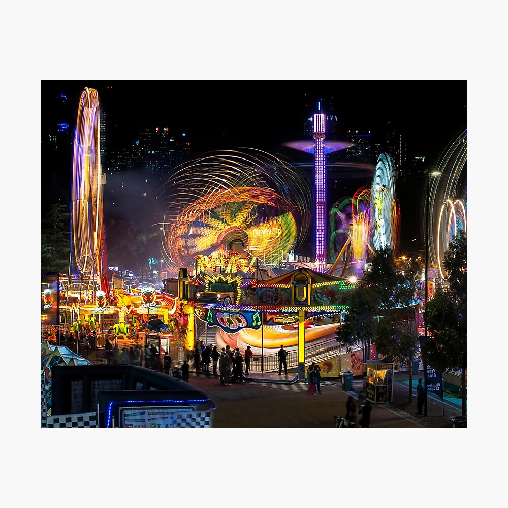 Fairground Attraction (diptych - left side) Photographic Print