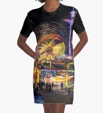 Fairground Attraction (diptych - left side) Graphic T-Shirt Dress