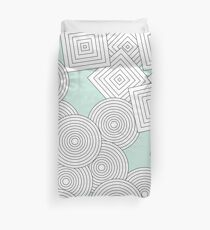 Repeating Patterns - Green Duvet Cover