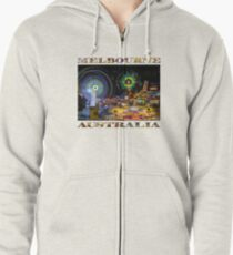 Fairground Attraction (diptych - right side) Zipped Hoodie