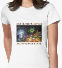 Fairground Attraction (diptych - right side) Women's Fitted T-Shirt