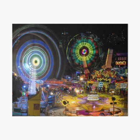 Fairground Attraction (diptych - right side) Art Board Print