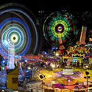 Fairground Attraction (diptych - right side) by Ray Warren