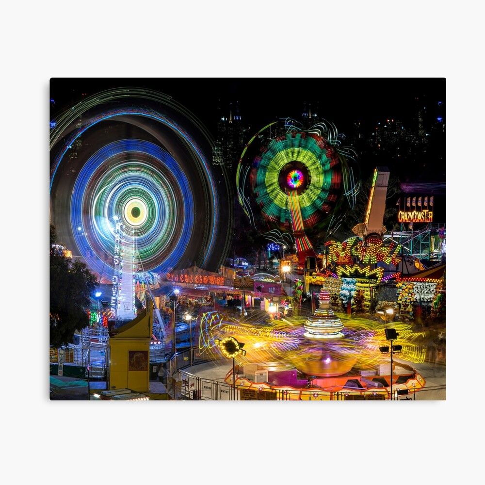 Fairground Attraction (diptych - right side) Canvas Print