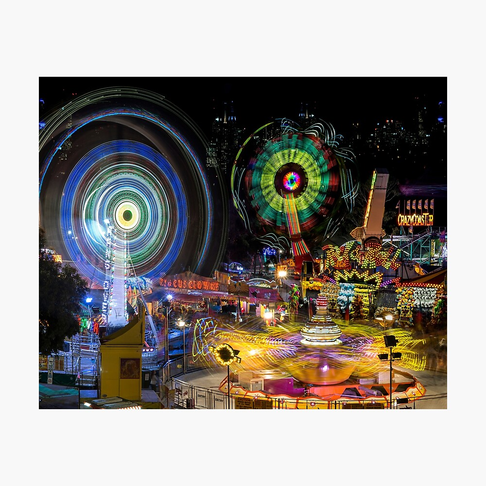 Fairground Attraction (diptych - right side) Photographic Print