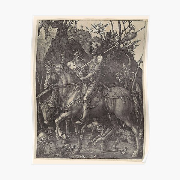 The Knight, Death and the Devil, by Albrecht Dürer, 1513 Poster
