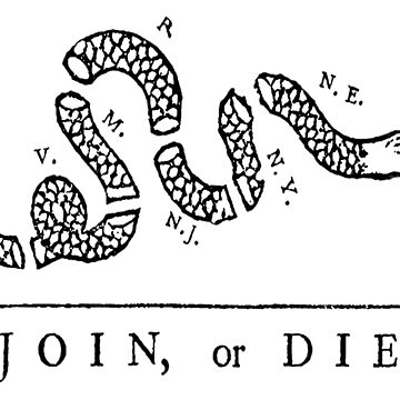 Vintage poster - Join, or Die by mosfunky