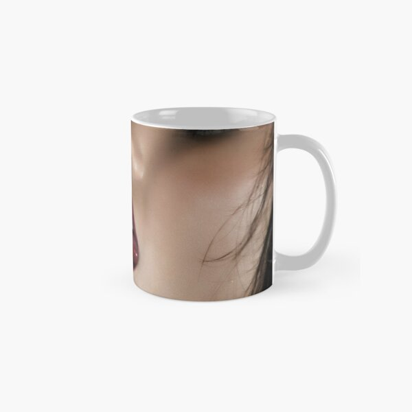 """Fine Erotic Art Photography """"Just A Taste - Black"""" Sexy Mouth - Mouth - Lips - Face - Tongue Classic Mug"""
