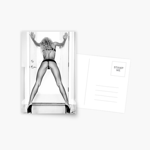 "Fine Erotic Art Photography - Female Erotic Art - ""Assume The Position - Modern Pinup"" Featuring a Hot Sexy Blonde Bikini Model - Perfect Ass - Great Ass - Nice Ass Postcard"