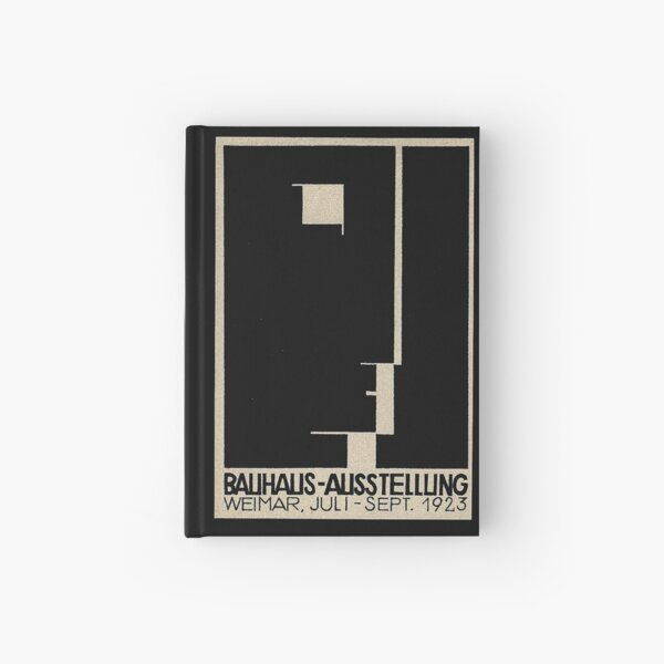 Bauhaus Logo on 1923 Weimar Advertisement Hardcover Journal