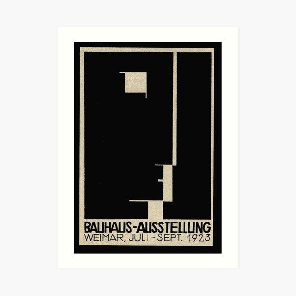 Logotipo de Bauhaus en 1923 Weimar Publicidad Lámina artística