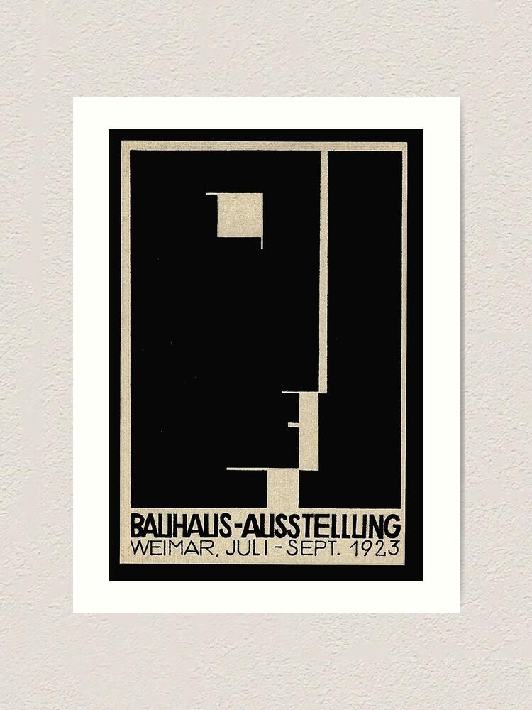 Alternate view of Bauhaus Logo on 1923 Weimar Advertisement Art Print