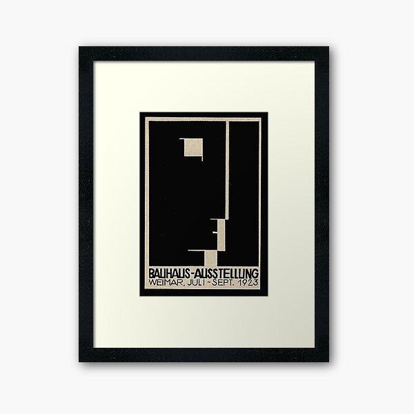 Bauhaus Logo on 1923 Weimar Advertisement Framed Art Print