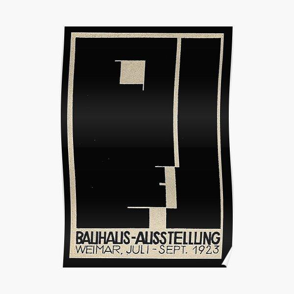 Bauhaus Logo on 1923 Weimar Advertisement Poster