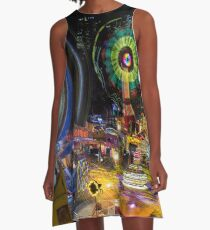 Fairground Attraction (diptych - right side) A-Line Dress