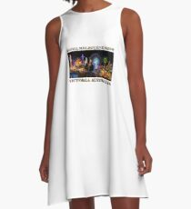 Fairground Attraction (poster on white) A-Line Dress