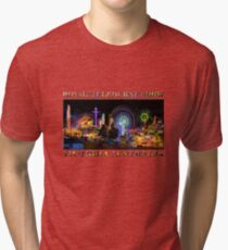 Fairground Attraction (poster on white) Tri-blend T-Shirt