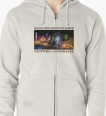 Fairground Attraction (poster on white) Zipped Hoodie