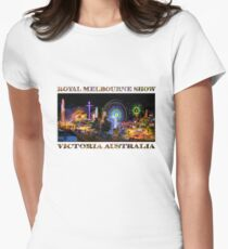 Fairground Attraction (poster on white) Women's Fitted T-Shirt