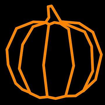 Aesthetic Geometric Pumpkin by Rocket-To-Pluto