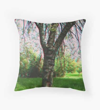 Tree [3d anaglyph] Throw Pillow
