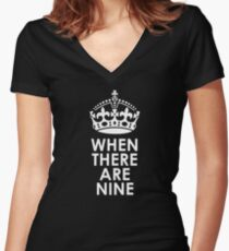When There Are Nine - Ruth Bader Ginsburg Women's Fitted V-Neck T-Shirt