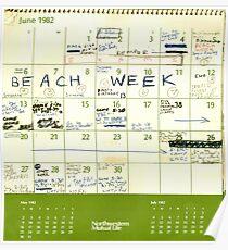 Brett Kavanaugh BEACH WEEK Calender Poster