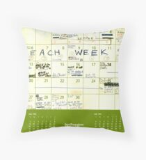 Brett Kavanaugh BEACH WEEK Calender Throw Pillow
