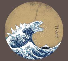 Hokusai Kaiju - Vintage Version | Unisex T-Shirt