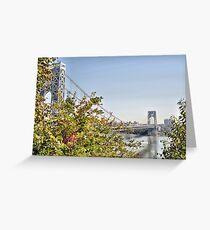 George Washington Bridge from Historic Park Greeting Card