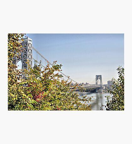 George Washington Bridge from Historic Park Photographic Print