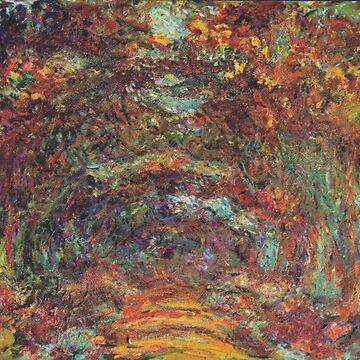 Monet The Rose Walk by 4Craig