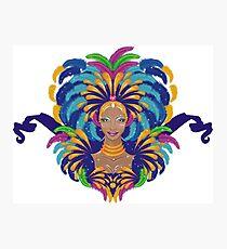 Beautiful carnival girl Photographic Print