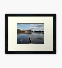 Looking for Lochness Monster Framed Print