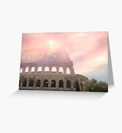 Colosseum Rome Italy Romantic Sky 1 Greeting Card