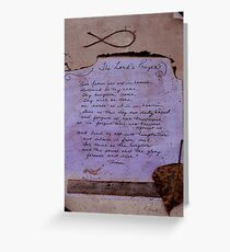 Lord's Prayer Collage Greeting Card