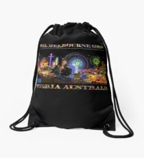 Fairground Attraction (poster on black) Drawstring Bag