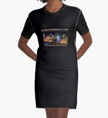 Fairground Attraction (poster on black) Graphic T-Shirt Dress