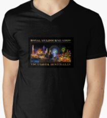 Fairground Attraction (poster on black) Men's V-Neck T-Shirt