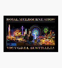 Fairground Attraction (poster on black) Photographic Print