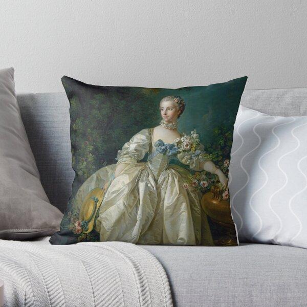 Madame Bergeret - Francois Boucher Throw Pillow