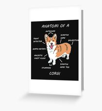 Funny Welsh Corgi Anatomi Shirt Geschenk Grußkarte