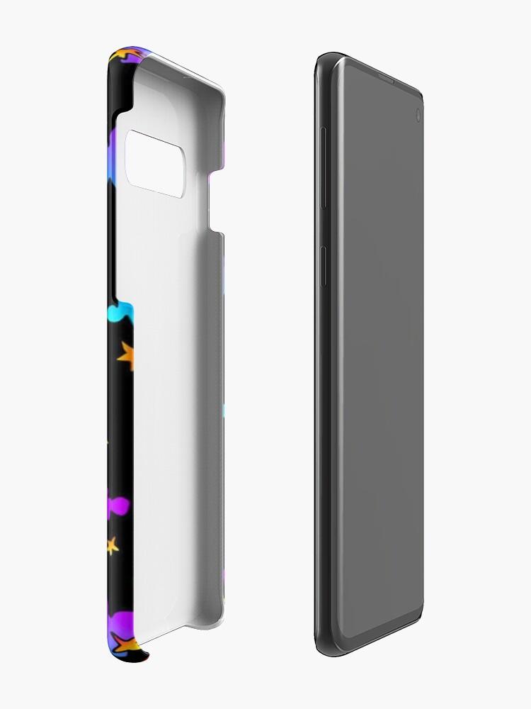 Alternative Ansicht von Nachtwolken und Sterne - Iphone u. Galaxie-Kästen Hülle & Klebefolie für Samsung Galaxy
