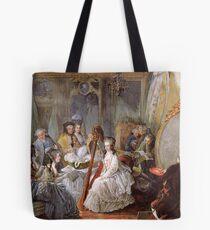 Bolsa de tela María Antonieta tocando el arpa en la corte francesa - Jean-Baptiste André Gautier-Dagoty