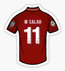 Mo Salah Liverpool FC Shirt Sticker