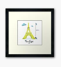 Tour Eiffel Impression encadrée